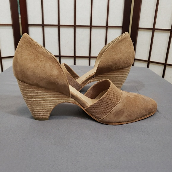 8f97d097c Eileen Fisher Shoes - Eileen Fisher Hilly d Orsay Pump Earth Suede 8.5